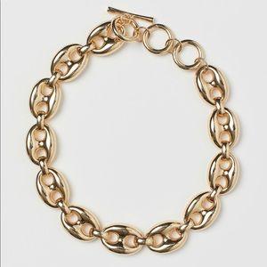 H&M short necklace gold tone